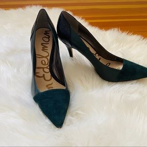 Sam Edelman Desiree Green Leather Pumps